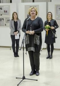 Direktorica Snežana Burzan na otvaranju izložbe